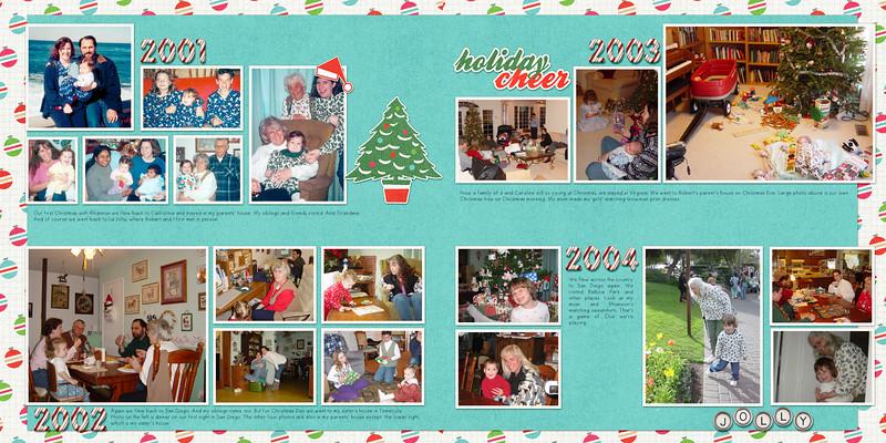 Christmas 2001, 2002, 2003, 2004