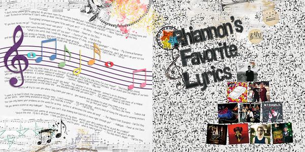 Rhiannon's Favorite Lyrics