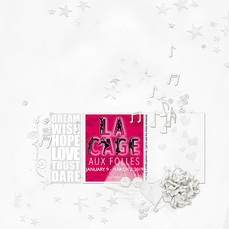 MOC7 Day 9 White on White - La Cage Aux Folles