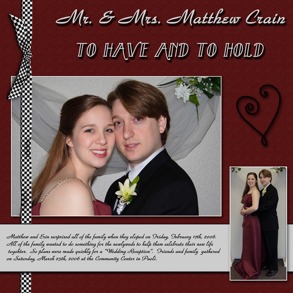 Mr. & Mrs. Matthew Crain