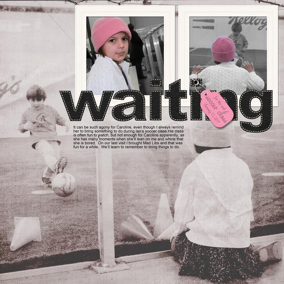 Jumpstart January 16 Waiting for Soccer Class