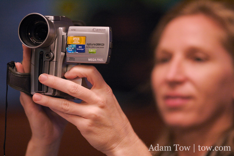 Janet's turn to videotape the reception