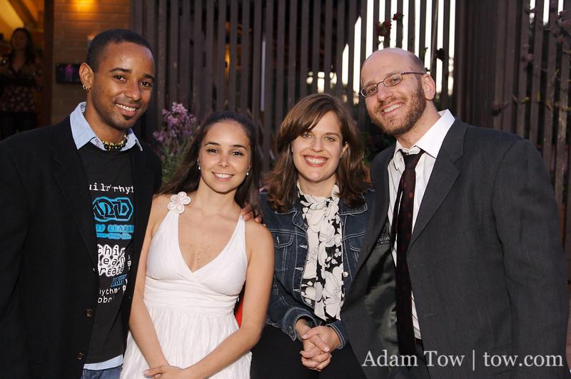 Marvin, Fabiana, John, and John's wife