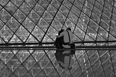 In Paris together BW