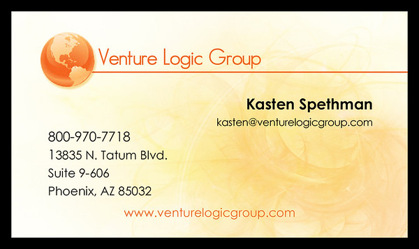 Venture Logic Group - business card layout & design