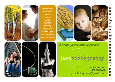 Jaxs Photography marketing materials