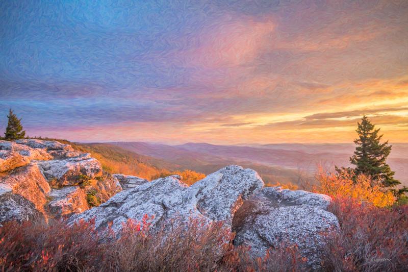 Morning  Light at Bear Rocks