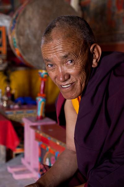 Monk on Duty<br /> Old Chamba Basgo Monastery<br /> Ladakh, India