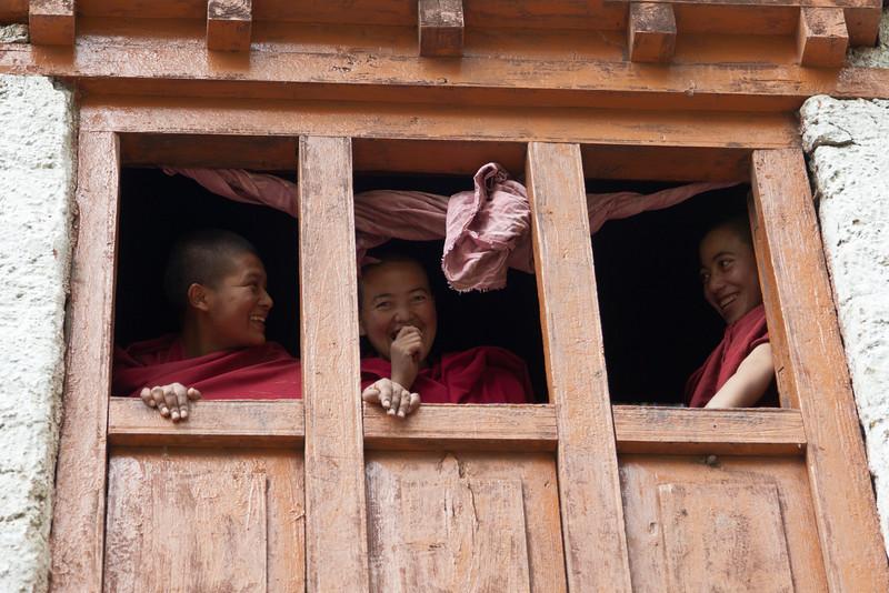 Stealing a Glance<br /> Thardot Choeling Nunnery<br /> Ladakh, India