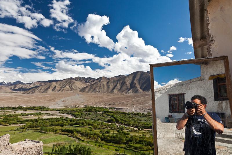 Self Portrait<br /> Spituk Monastery<br /> Ladakh, India