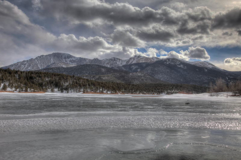Crystal Lake Reservoir frozen solid. Five miles from main entrance