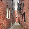 Narrow corridor in the North End, Boston