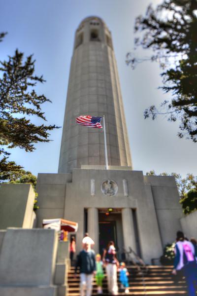 Single HDR processed image. Coit Tower, San Francisco, CA. Canon TS-E 24mm f/3.5L II Tilt-Shift