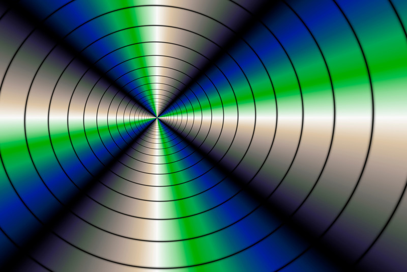 Blue and green spiral serie (6)