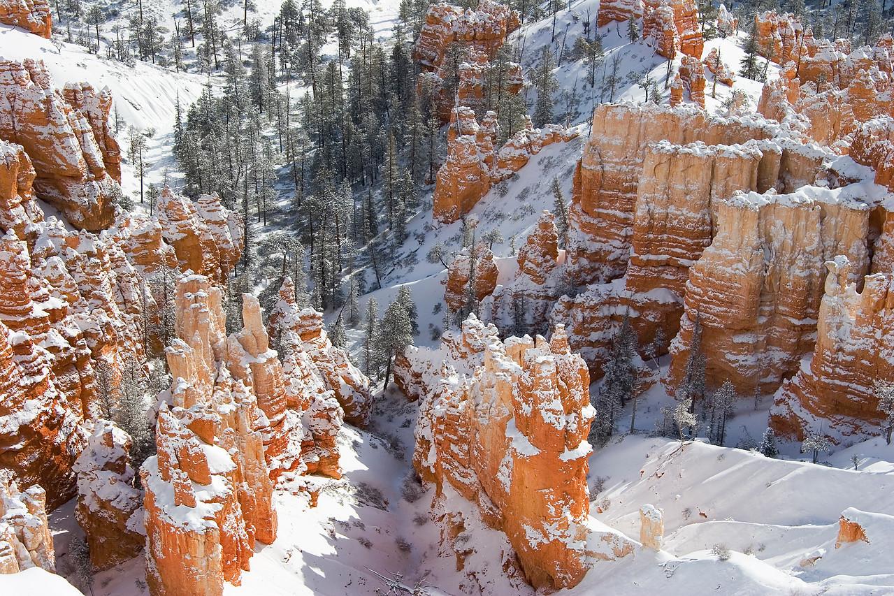 Bryce Canyon, Utah, Snowfall, winter, Bryce Canyon National Park, snow, hoodoos, red rock, canyons