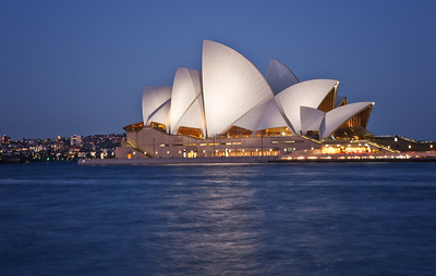 """OH 115   Sydney, Australia, Opera House.  This was taken during the """"magic hour"""" after sunset."""