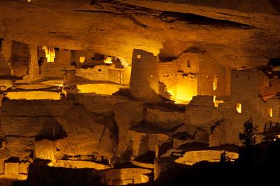 LUM 105   Lumineria   Mesa Verde National Park, Mesa Verde, Colorado,Mesa, Anasazi,cliff dwellings,Cliff House, luminaria, centennial celebration,