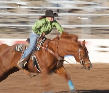 TUC5074    Tucson, Arizona, rodeo, horses,steers, calf roping, barrel racing, cowboys, cowgirls