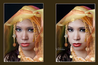 Color me gold photoshoot with Vanessa, Studio 18