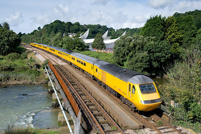 150808  43013 + NMT + 43089 on 1Z19 1006 Plymouth to Paddington passing near Tavistock junction