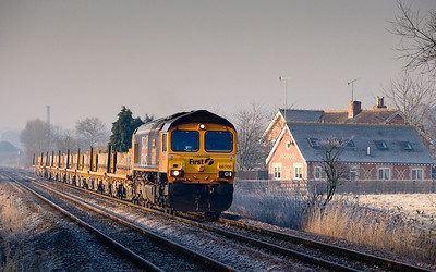 66705 on 4E31 SX  0634 Fairwater yard-Peterborough  between Crofton and Great Bedwyn