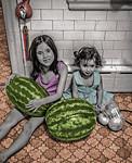 Yoha, Una, Two Watermelons