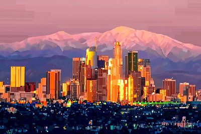 Los Angeles, CA - Digital Art Painting