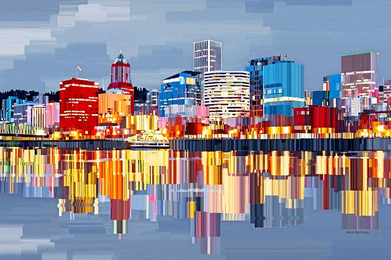 Portland, Oregon - Digital Painting