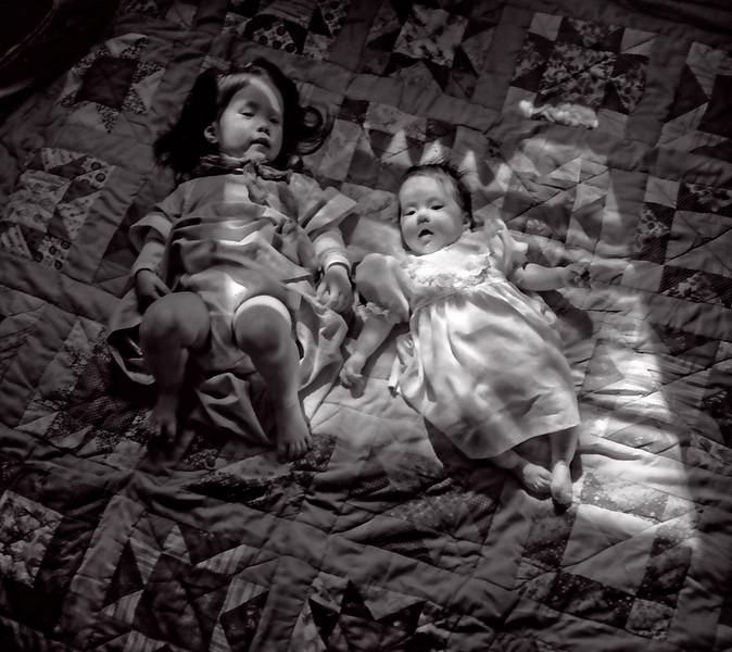 Ronnie & Yoha on a Quilt #2