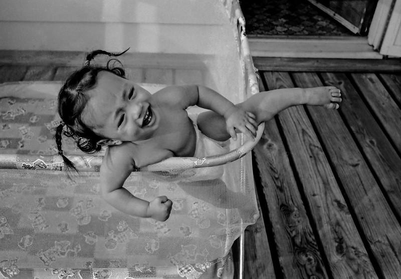 Digitized black & white film negative.