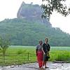 Sigiriya rock in the background.