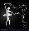 silver-ballerina-on-dark-background-vector-7815727