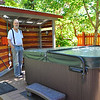 George is proud of his new tubby's home that he built. And, he should be. It's a gem, and is so nice for a great soak.