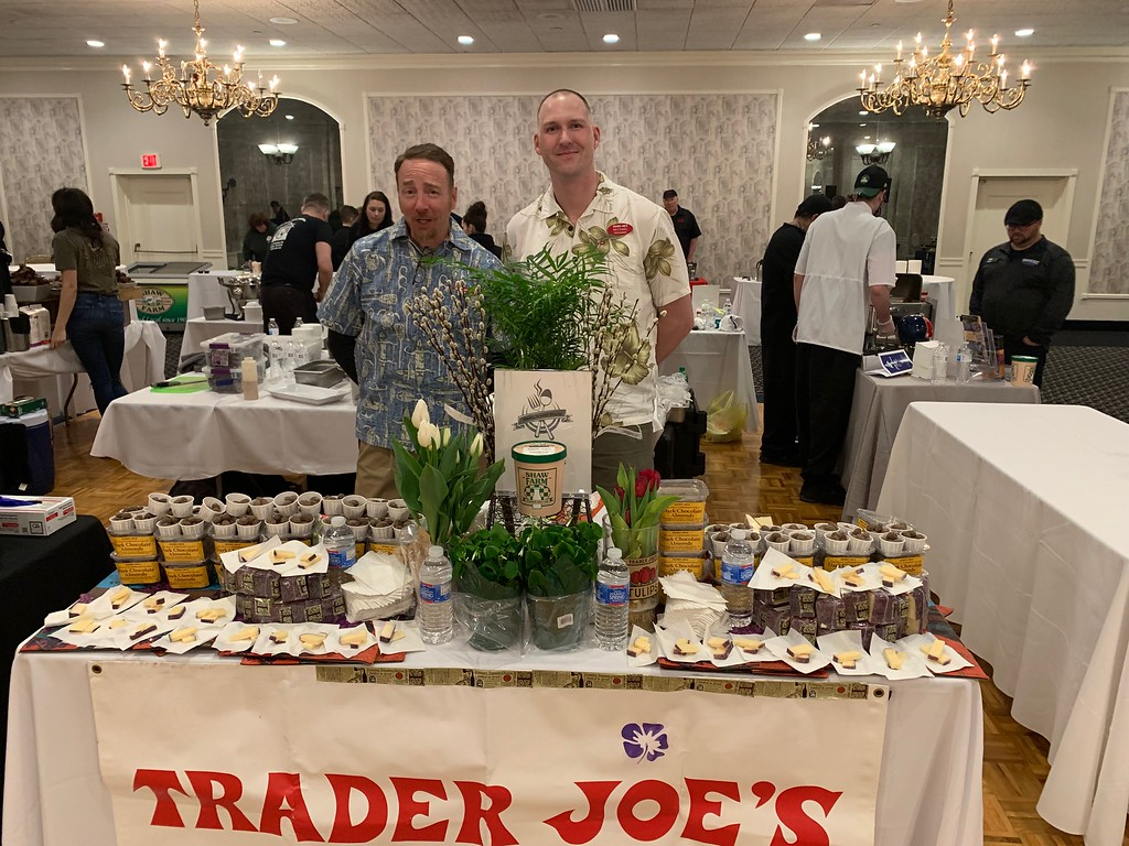 . Representing Trader Joe�s of Nashua are Patrick Fallon of Lowell, left, and Michael Begley of Dracut