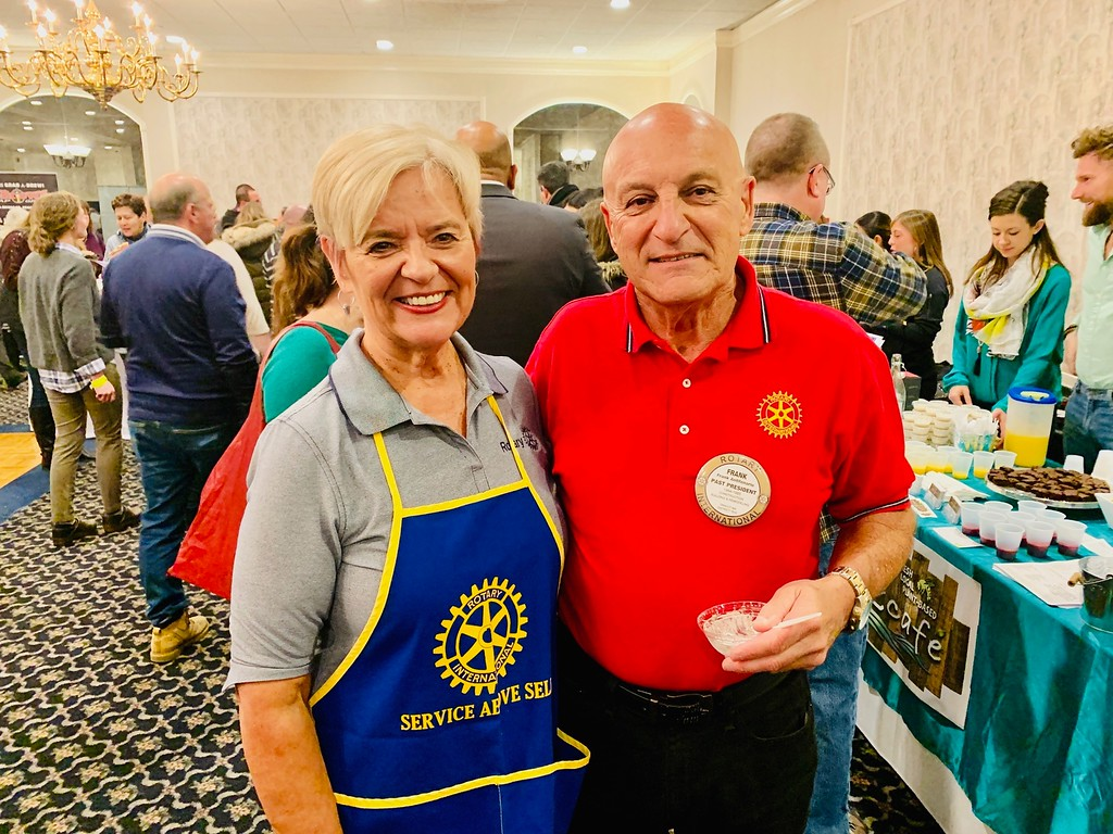 . Past Dracut Rotary president/chair Frank Antifonario and his lovely wife, Rachel, of Dracut