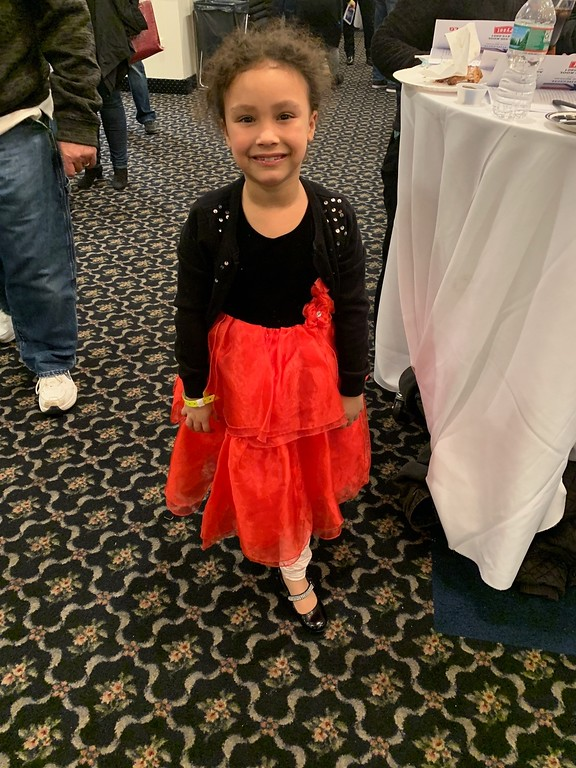 . The adorably dressed Xiana Lefebvre of Lowell