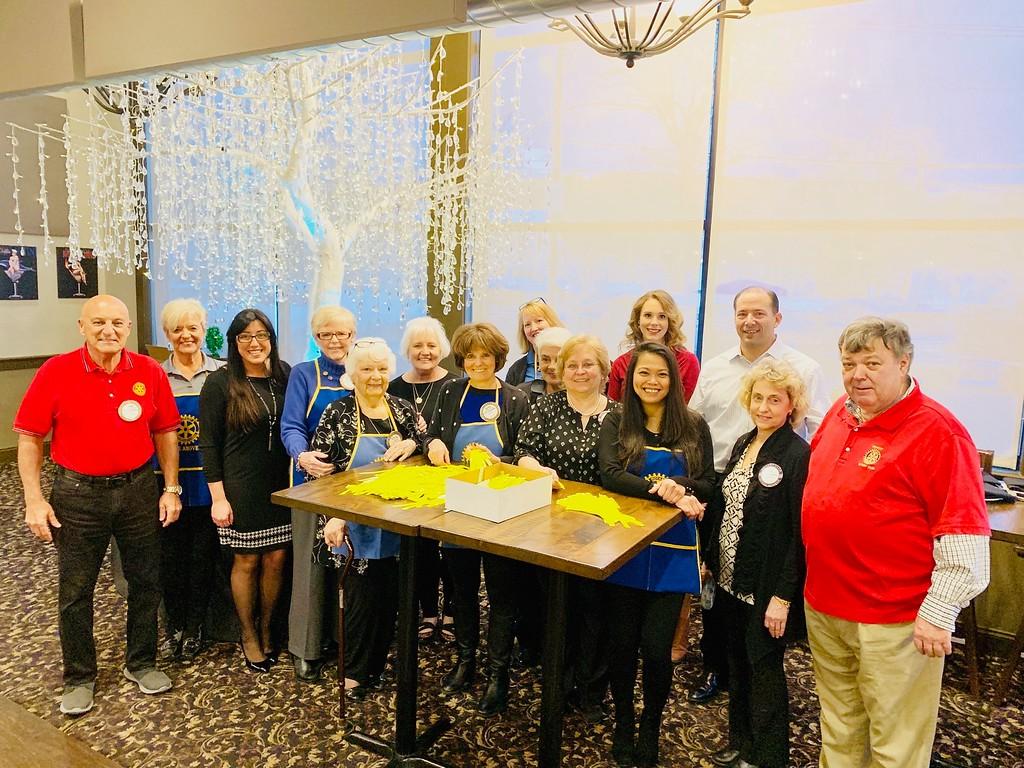 . The dedicated Rotary Club of Dracut team