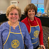 Rotarians, Sandy Niemaszyk of Dracut and Kathy Boyd of Amherst, N.H.