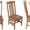 Chair - Mission in Medium Oak with Standard Top