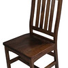 Trestle Chair - Mahogany Oak with Curved Skirt
