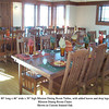 Two sets of Oak Mission Tables and Chairs Set for Holiday Dinner