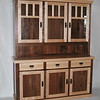 Mixed Wood Walnut and Maple Mission 3 Door Hutch