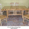 Natural Hickory Mission Table and Chairs - Side View