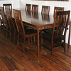 Walnut Trestle Mission Table and Chairs