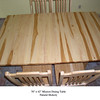 Natural Hickory Mission Table - Top View