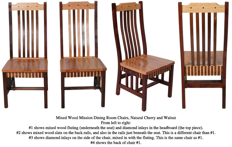 Mission Chair - Natural Cherry and Walnut