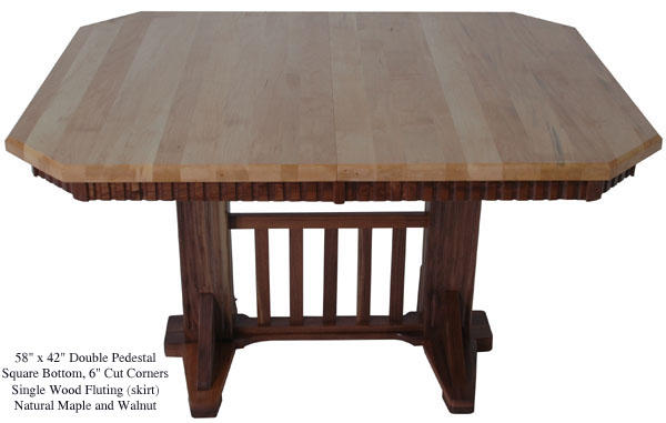 table-square-fluted-mission-maple-walnut-top