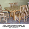 Natural Hickory Mission Table and Chairs