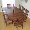 Natural Walnut Mission Table & Dining Room Chairs