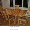Western Table, Mission Chairs, Natural Hickory